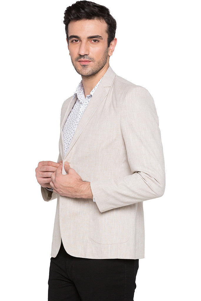 Slim Fit Casual Beige Jacket-4