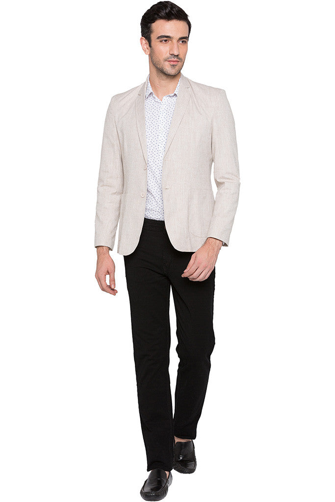 Slim Fit Casual Beige Jacket-6