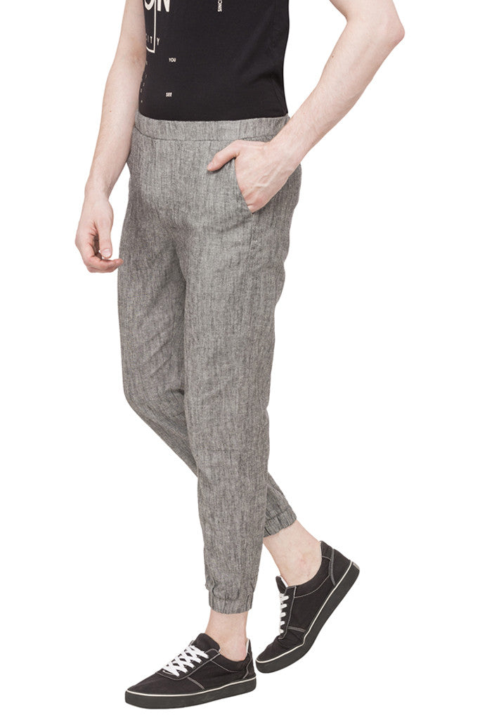 Flat Front Cropped Joggers-5