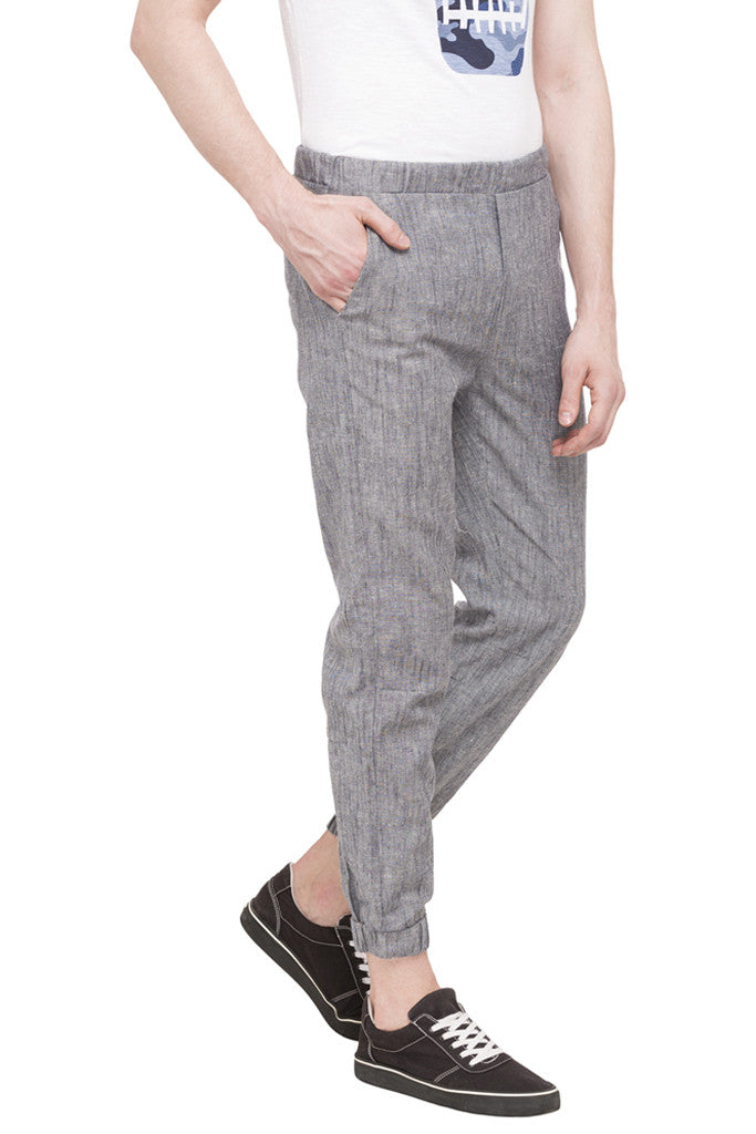 Flat Front Cropped Joggers-4