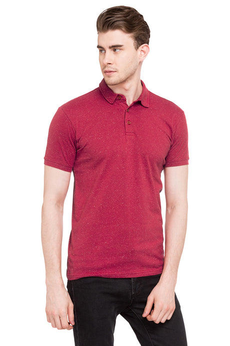 Solid Polo Neck Tee-1