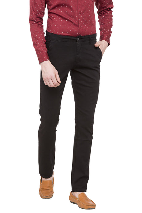 Solid Flat Front Chinos-1
