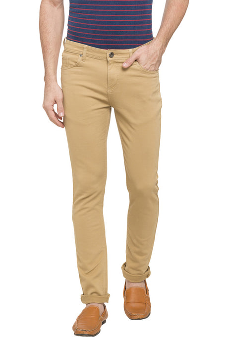 Slim Fit Solid Chinos-1