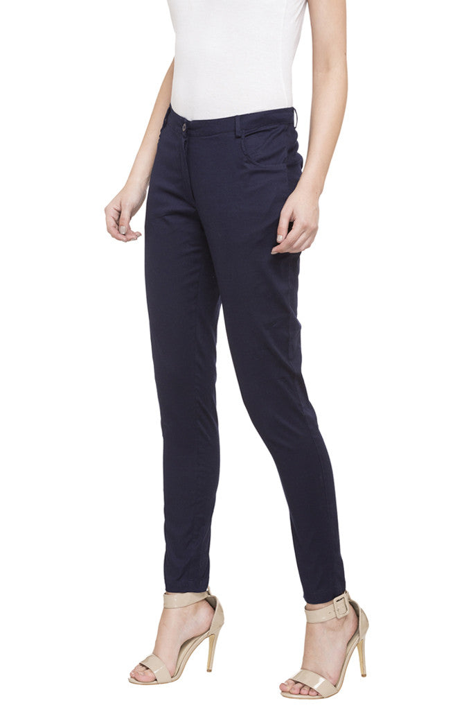 Solid Cigarette Trousers-5