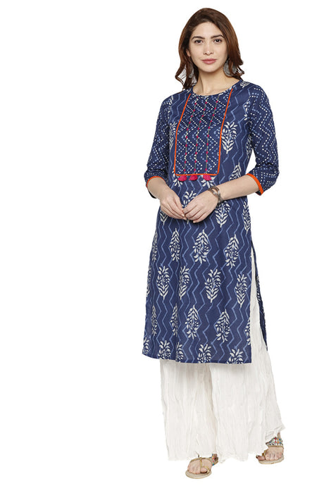Printed Statement Kurta-1