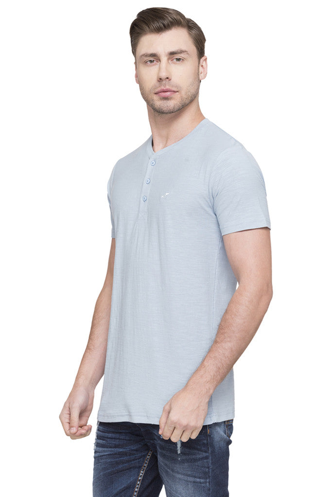 Henley Neck T-shirt-5