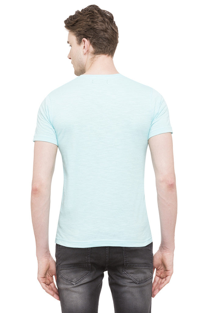 V-neck Slub T-shirt-3