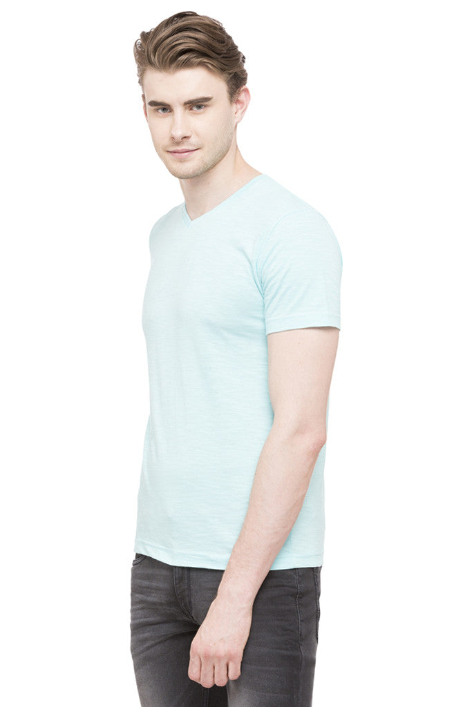 V-neck Slub T-shirt-4