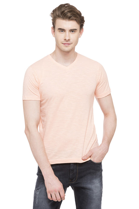 V-neck Slub T-shirt-1