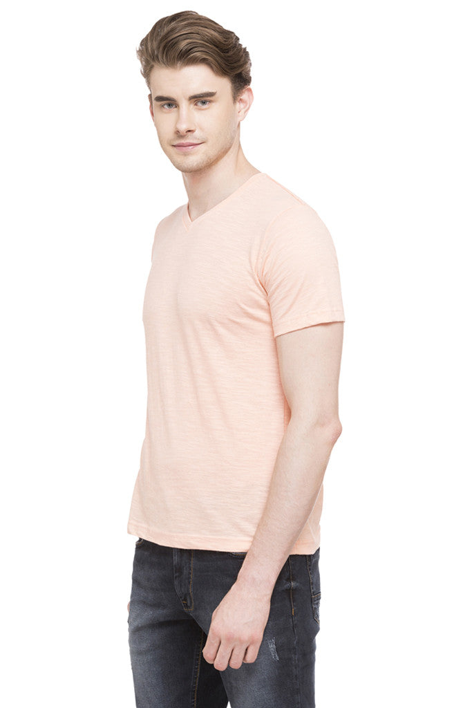 V-neck Slub T-shirt-5