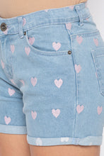 Load image into Gallery viewer, Heart Print Shorts-5