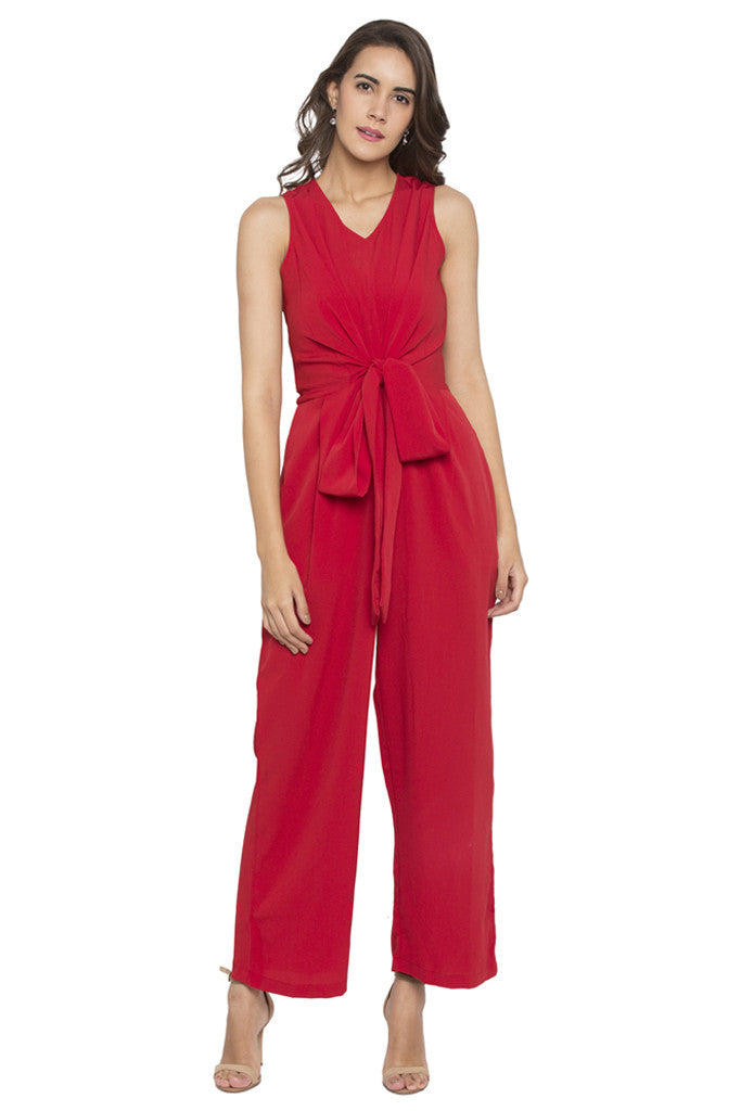 Front Bow Jumpsuit-1