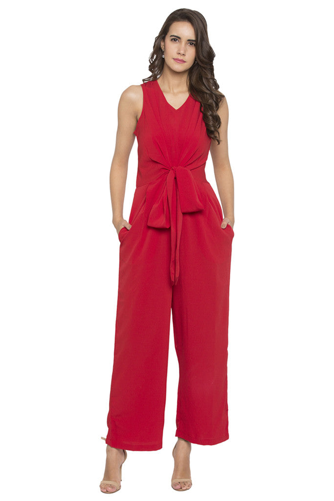 Front Bow Jumpsuit-2