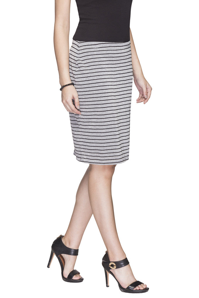 Striped Pencil Skirt-4
