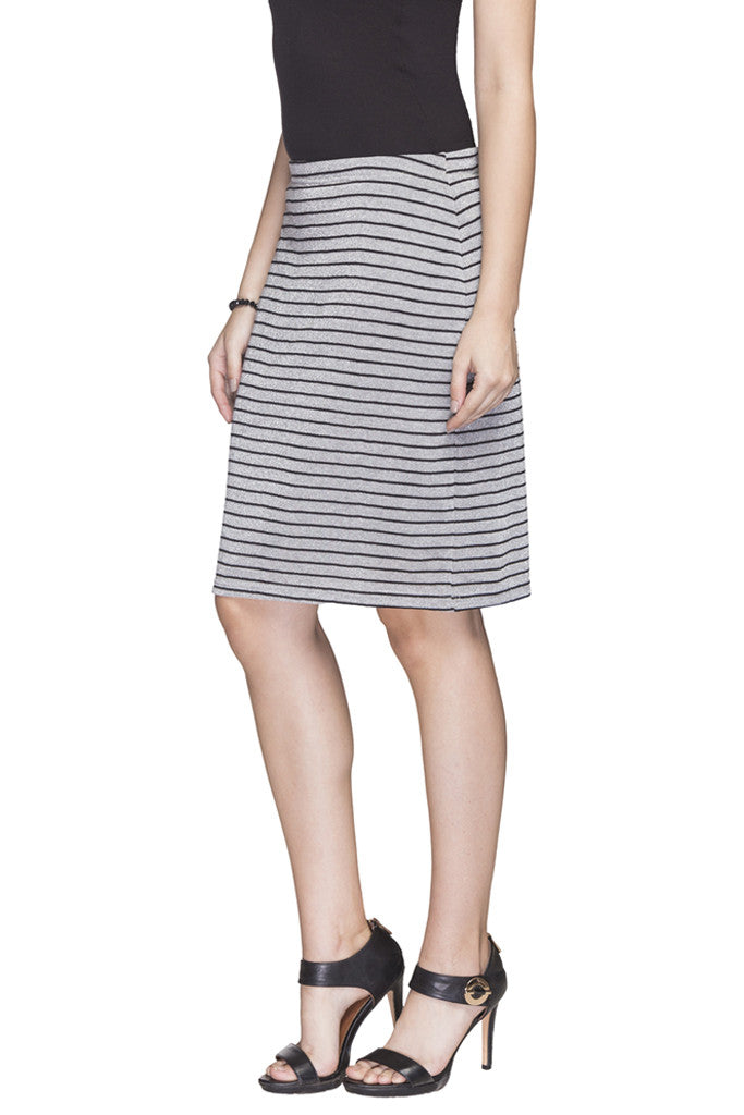 Striped Pencil Skirt-5