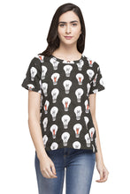 Load image into Gallery viewer, Bulb Print T-shirt-1