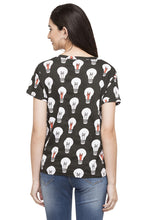 Load image into Gallery viewer, Bulb Print T-shirt-3