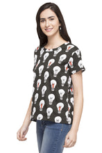 Load image into Gallery viewer, Bulb Print T-shirt-5
