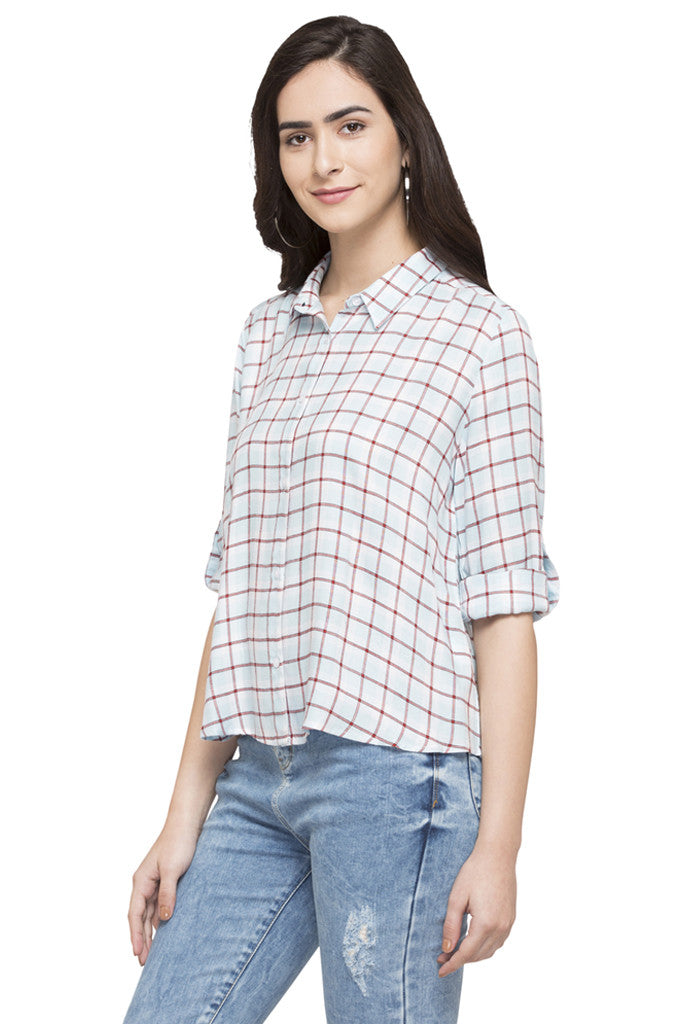 Checked Casual Shirt-5