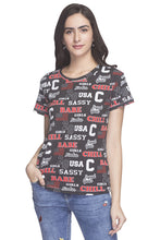 Load image into Gallery viewer, Typography Print T-shirt-1