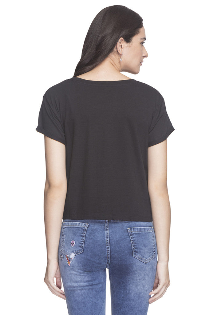 Front Sequined Party T-shirt-3