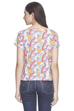 Load image into Gallery viewer, Unicorn Print T-shirt-3