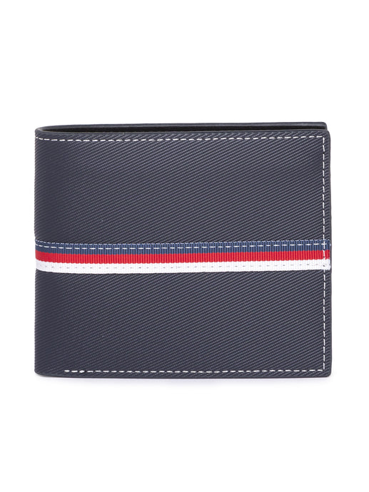 Striped Navy Blue Wallet-1