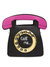 Load image into Gallery viewer, Telephone Shaped Black Handbag-1