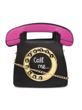 Load image into Gallery viewer, Telephone Shaped Black Handbag-2