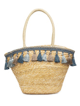 Load image into Gallery viewer, Bamboo Rattan Tasselled Beige Handbag-1