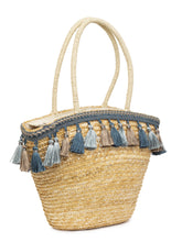 Load image into Gallery viewer, Bamboo Rattan Tasselled Beige Handbag-3