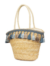 Load image into Gallery viewer, Bamboo Rattan Tasselled Beige Handbag-4