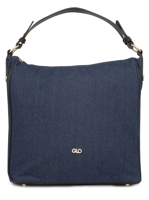 Structured Navy Blue Tote Bag-1