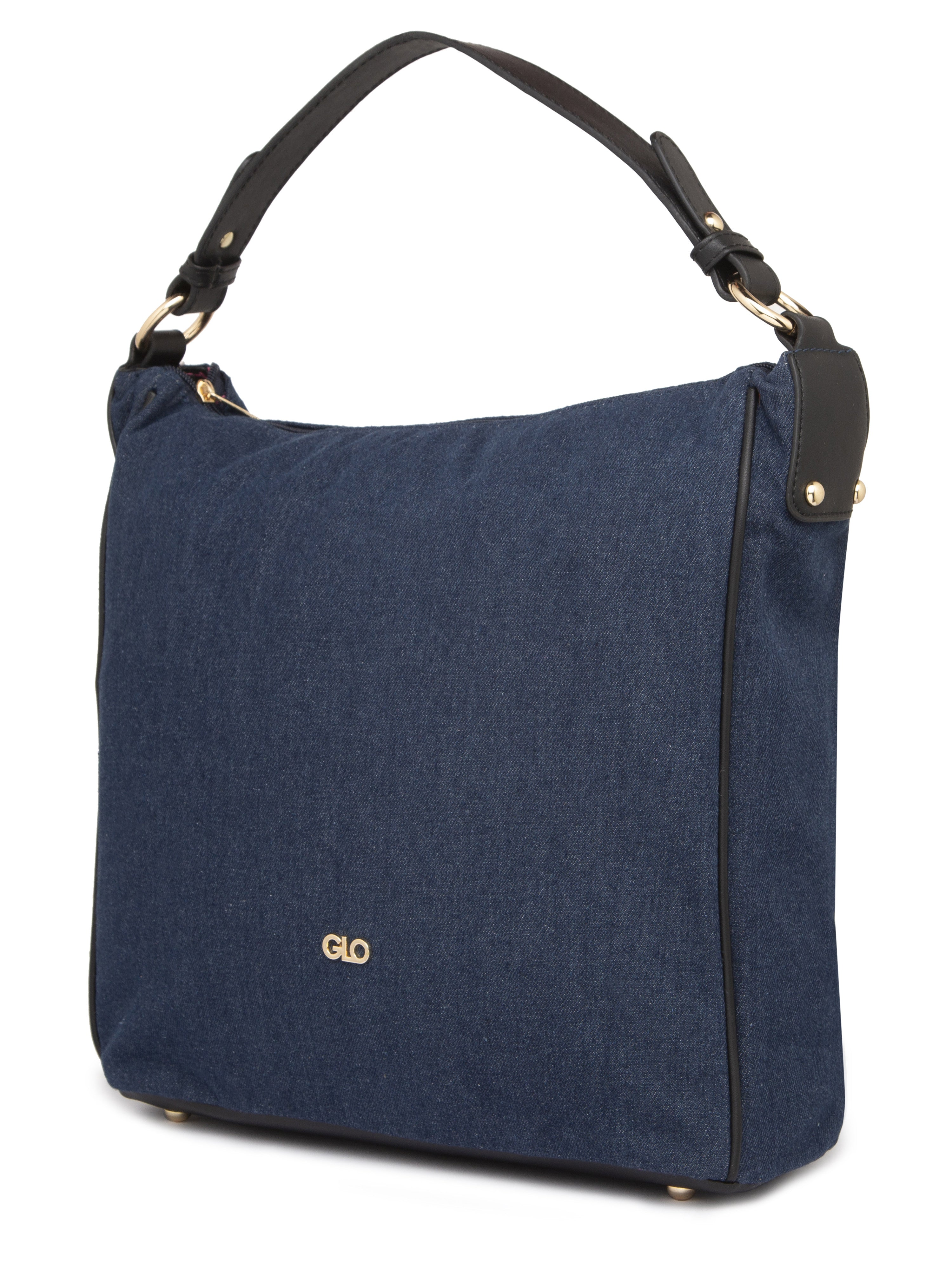 Structured Navy Blue Tote Bag-4