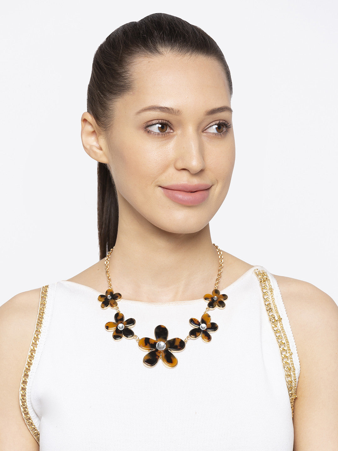 Gold & Black Necklace-3