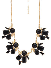 Load image into Gallery viewer, Gold & Black Necklace-2