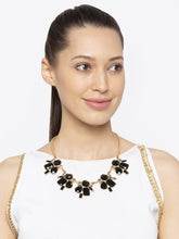 Load image into Gallery viewer, Gold & Black Necklace-3