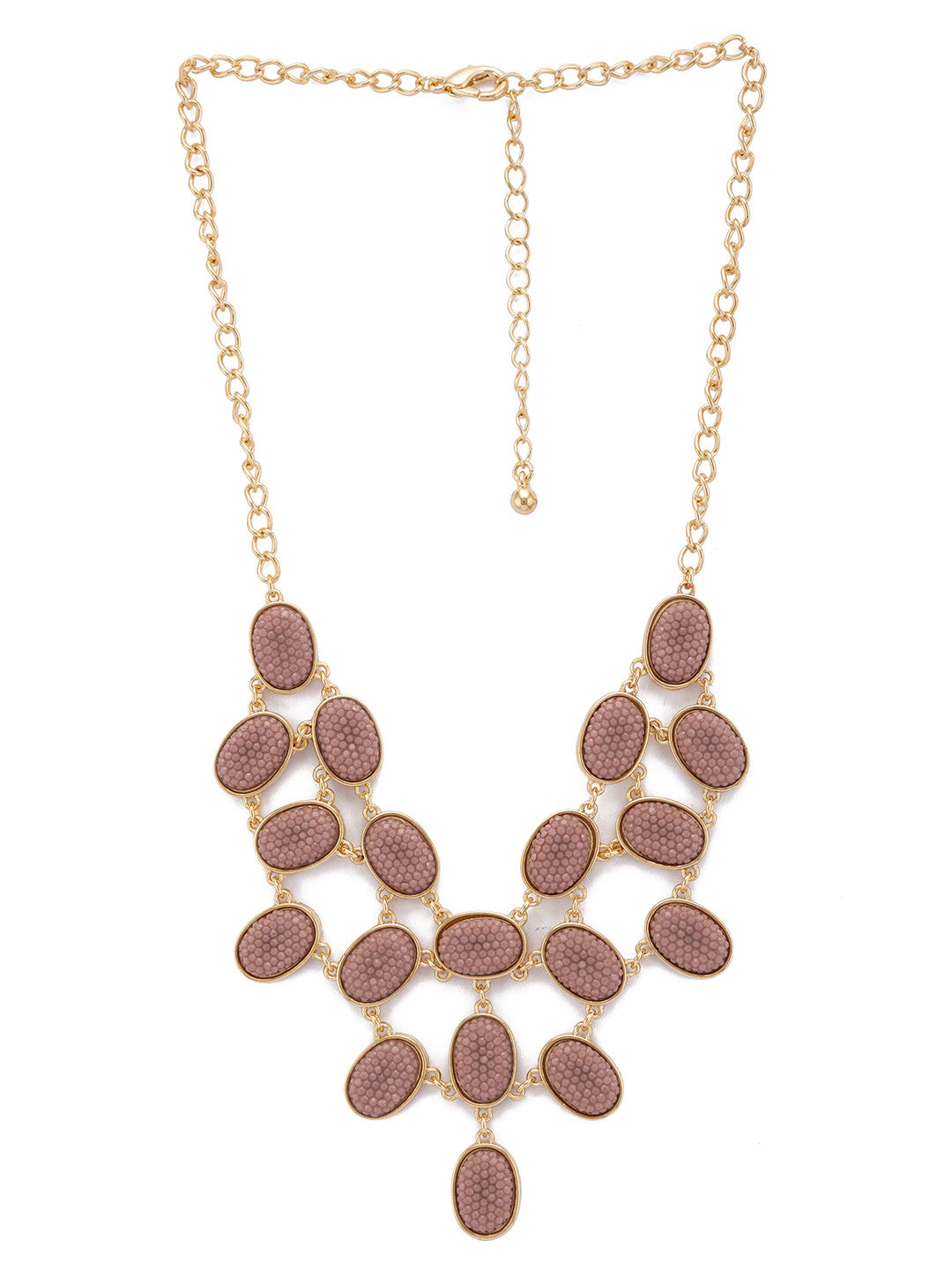 Gold Stones and Beads Necklace-1