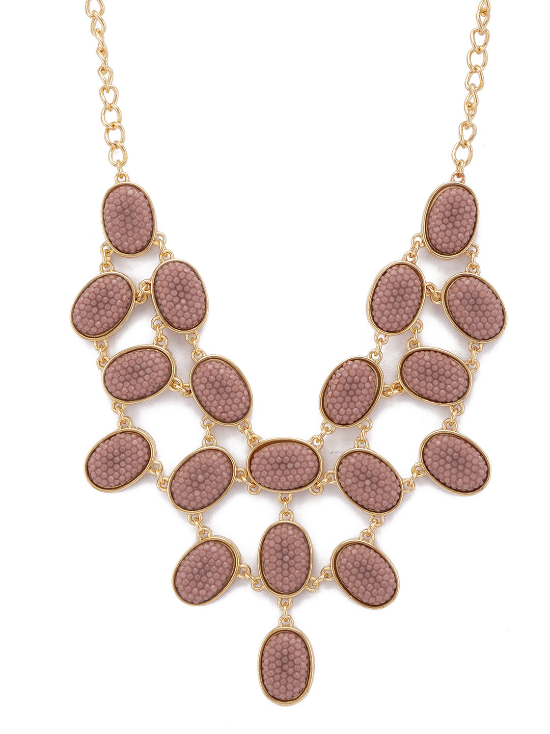 Gold Stones and Beads Necklace-2