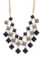 Load image into Gallery viewer, Gold & Blue Stones and Beads Necklace-2
