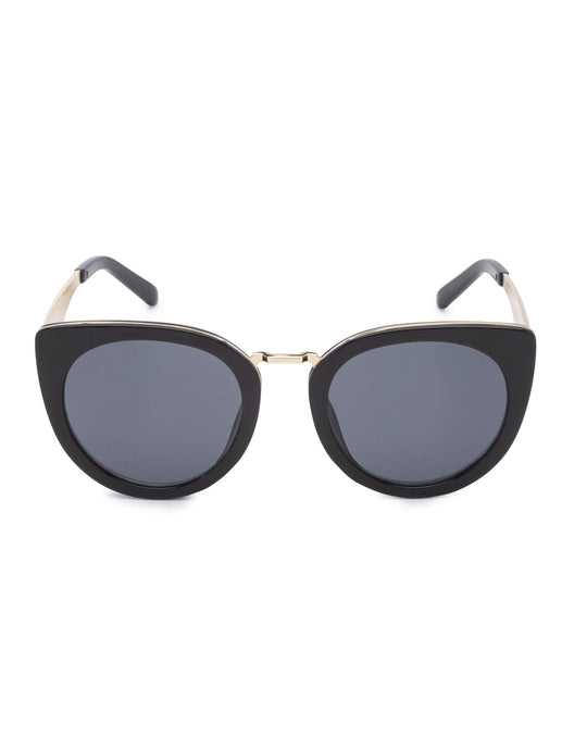 Full Rim Cat Eye Black Sunglasses-1