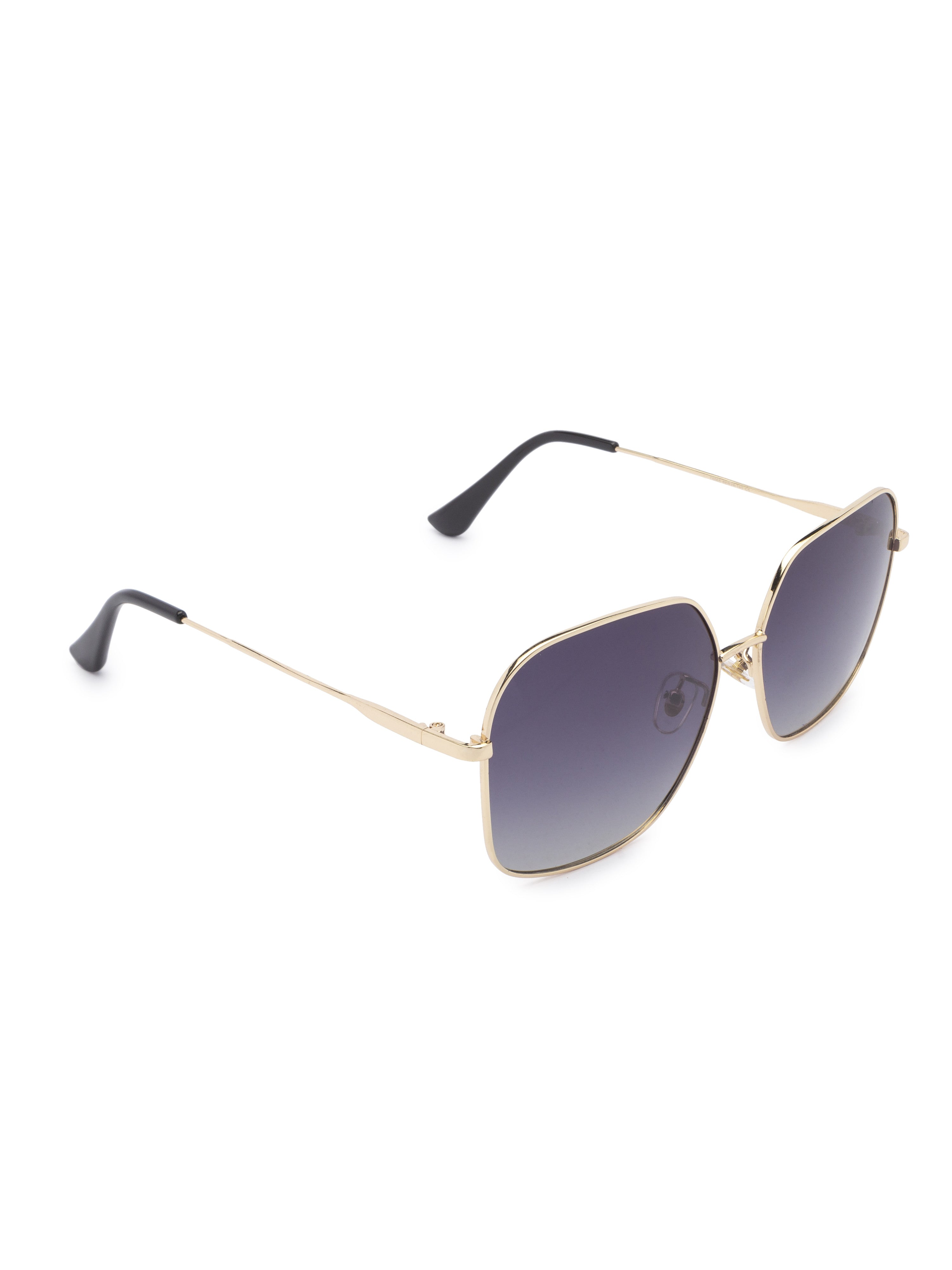 Grey Aviator Sunglasses-3
