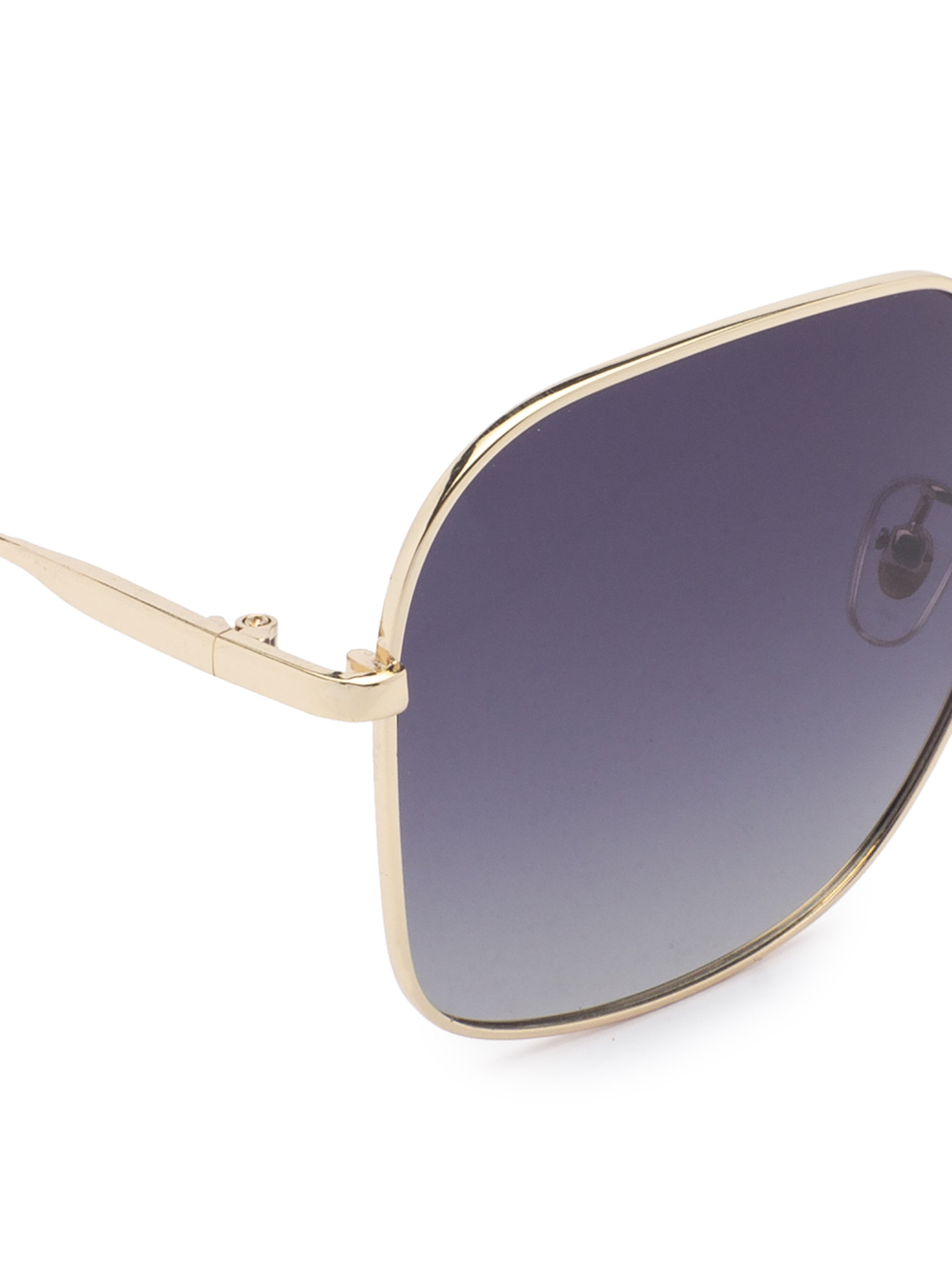 Grey Aviator Sunglasses-4
