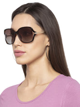 Load image into Gallery viewer, Full Rim Brown Aviator Sunglasses-5