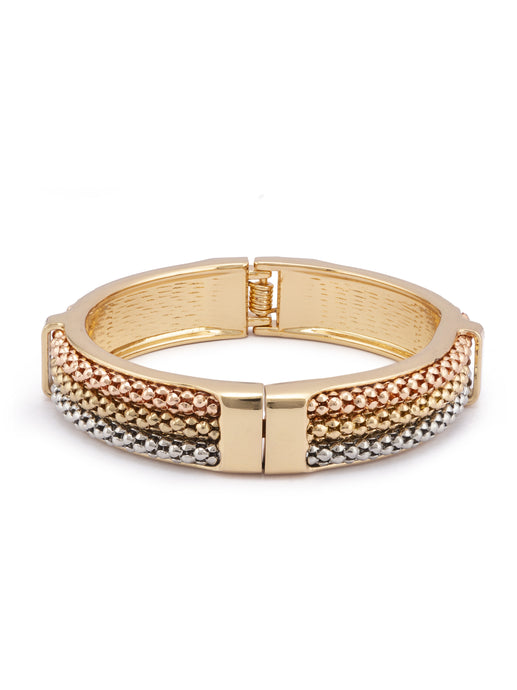 Silver Gold Rose Gold Bangle Bracelet-1