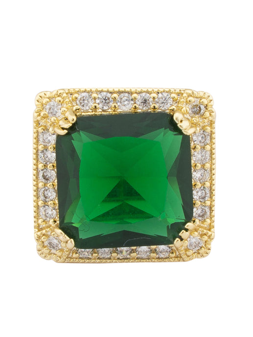 Green White Gold Statement Ring-1