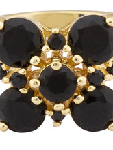 Load image into Gallery viewer, Black Stone Gold Statement Ring-4