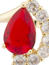 Load image into Gallery viewer, Red White Gold Statement Ring-4