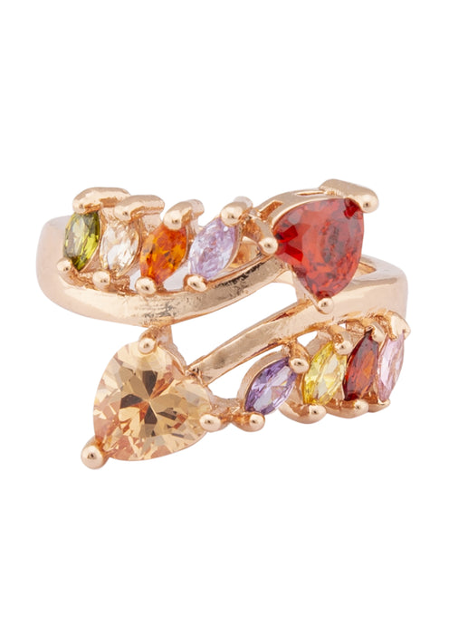 Multi-color Stone Rose Gold Ring-1