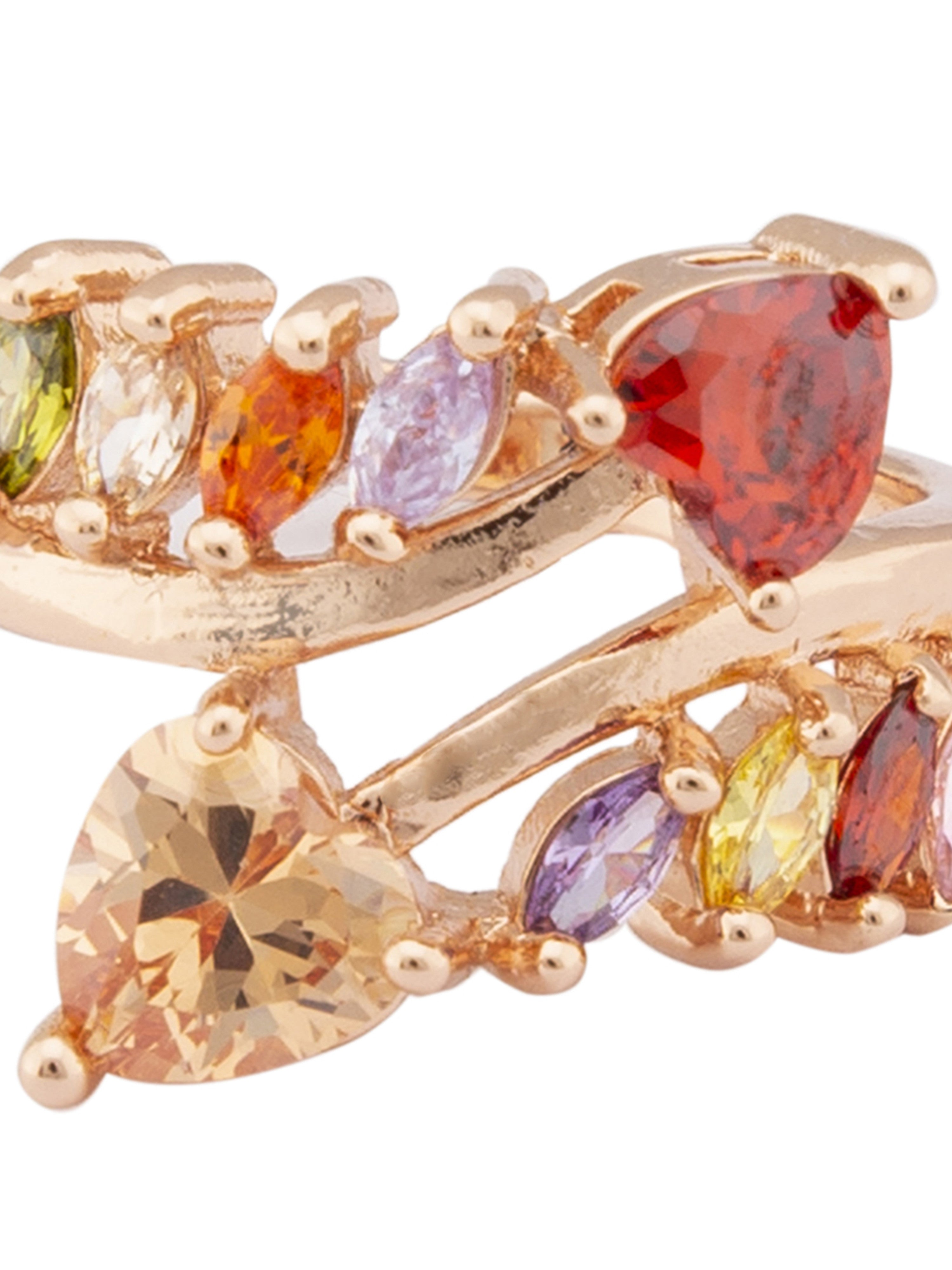 Multi-color Stone Rose Gold Ring-4